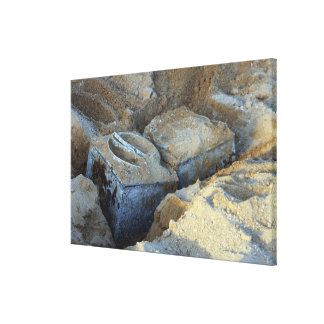 Two box-type devices packed stretched canvas prints