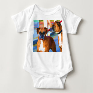 Two Boxers Art baby shirt