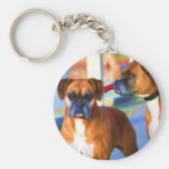 Two Boxers Art keychain
