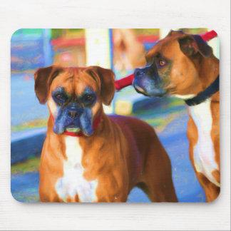 Two Boxers Art mousepad