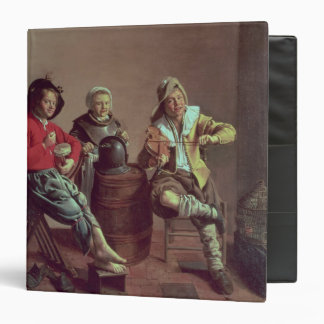 Two Boys and a Girl Making Music, 1629 3 Ring Binder
