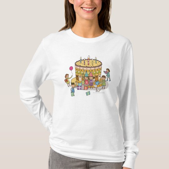 Two boys and three girls in a birthday party T-Shirt
