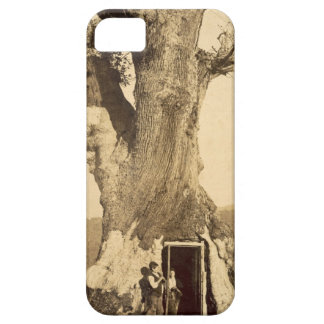 Two boys at the doorway of their treehouse, c.1870 iPhone SE/5/5s case