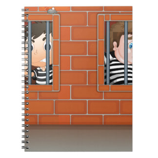 Two boys inside the jail notebooks