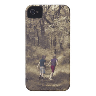 Two Boys On a Forest Path Case-Mate iPhone 4 Case