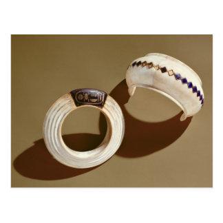 Two bracelets, from the Tomb of Tutankhamun Postcard