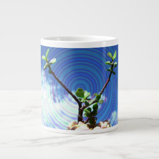 Two branches plant with spiral.jpg giant coffee mug