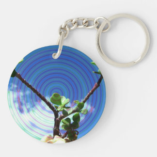 Two branches plant with spiral.jpg keychain