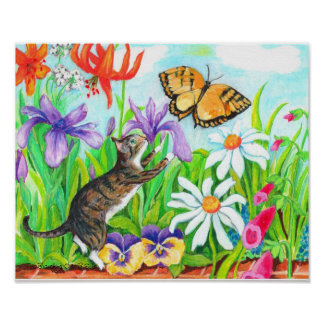 Two Branching Out kid s wall art - Daisy our Cat Poster