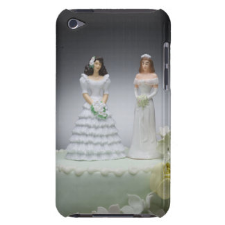 Two bride figurines on top of wedding cake iPod Case-Mate case