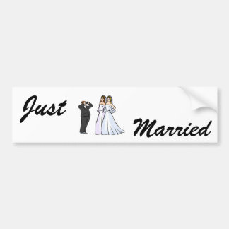 Two Brides being Photographed Bumper Sticker