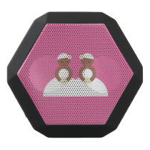 Two brides, both colored black bluetooth speaker