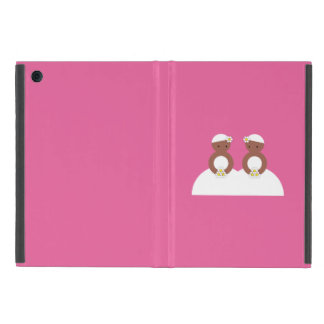 Two brides, both colored covers for iPad mini