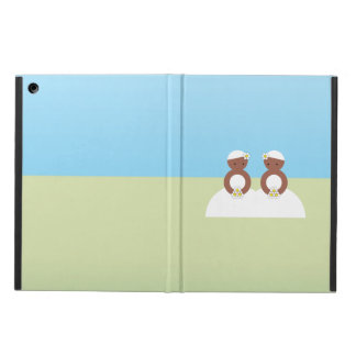 Two brides, both colored iPad air cases
