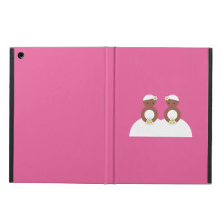 Two brides, both colored iPad air covers