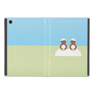 Two brides, both colored iPad mini covers