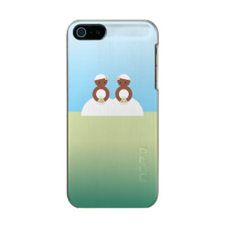 Two brides, both colored metallic phone case for iPhone SE/5/5s