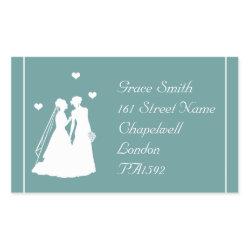 Two Brides Gay/Lesbian Wedding Address Label Stickers