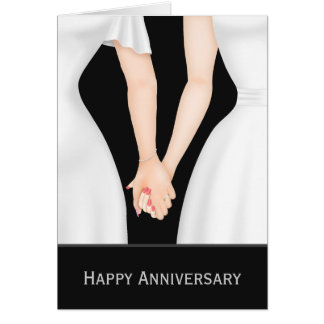 Two Brides In Dresses Wedding Anniversary Cards