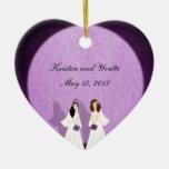 Two Brides Lesbian Wedding Ornament Favors