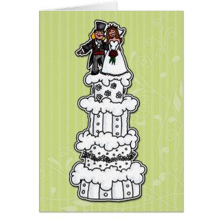 Two Brides on Wedding Cake Card