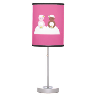 Two brides one caucasian desk lamp