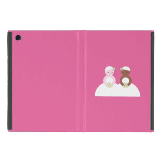 Two brides, one caucasian, one colored case for iPad mini