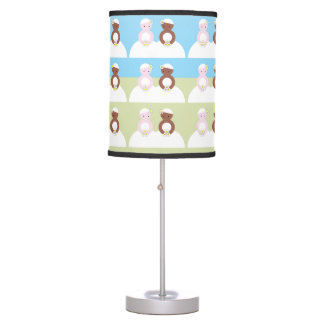 Two brides one caucasian one colored desk lamp