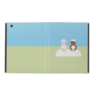Two brides, one caucasian, one colored iPad covers