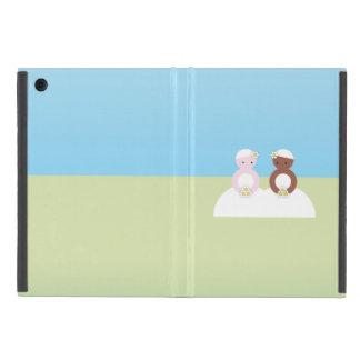 Two brides, one caucasian, one colored iPad mini cases