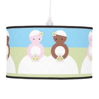 Two brides one caucasian pendant lamp