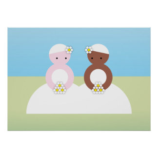 Two brides one caucasian poster