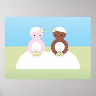 Two brides one caucasian print