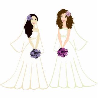 Two Brides Photo Sculpture