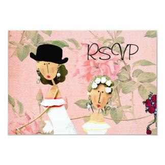 Two Brides RSVP 3.5x5 Paper Invitation Card