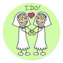 Two Brides sticker