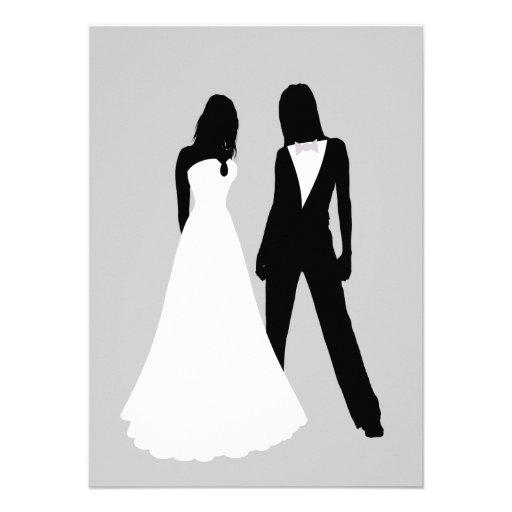 Two Brides Wedding Announcements