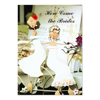 Two Brides Wedding Invitation