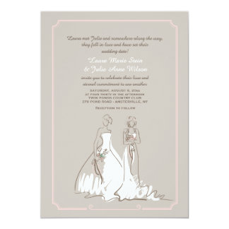 Two Brides Wedding Invitation