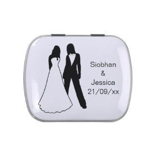 Two Brides Wedding Jelly Belly Candy Tin