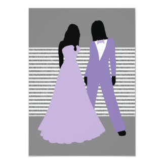 Two Brides Wedding (Lilac And Grey) Card