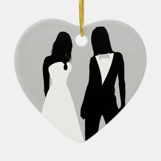 Two Brides Wedding Ornament