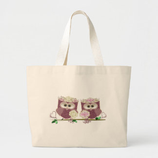 Two Brides Wedding Owls Art Gifts Tote Bag