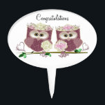 "Two Brides Wedding Owls Art Gifts Cake Topper<br><div class=""desc"">digital art design for a Special Occasion</div>"