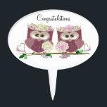 "Two Brides Wedding Owls Art Gifts Cake Topper<br><div class=""desc"">digital art design for a Special Occasion</div>"