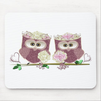 Two Brides Wedding Owls Art Gifts Mouse Pads