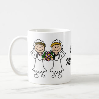Two Brides with Flowers Coffee Mug