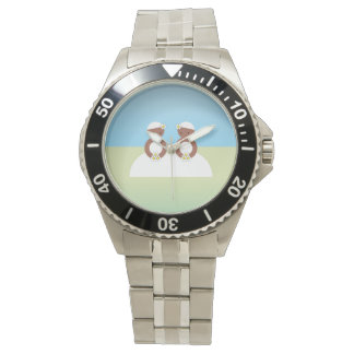 Two brides wrist watch