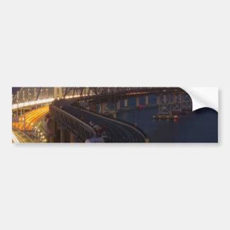 Two Bridges San Francisco–Oakland Bay Bridge Bumper Sticker