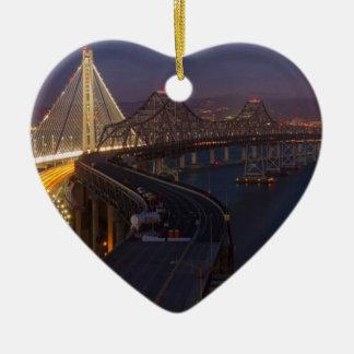 Two Bridges San Francisco–Oakland Bay Bridge Ceramic Ornament